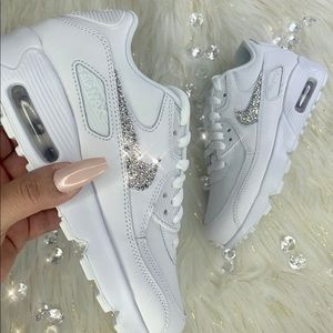 Nike Air Max 90 Bling Customized Swarovski Crystal NWT